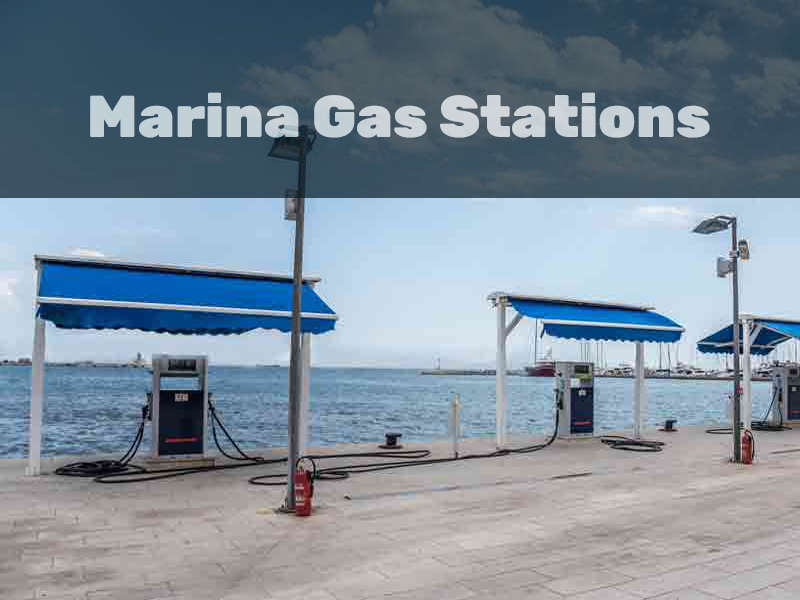 Installing a Marina Gas Station for Boats